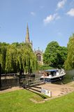 Canal lock on River Avon, Stratford-upon-Avon. Stock Photos