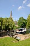 Canal lock on River Avon, Stratford-upon-Avon. Stock Photos