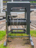 Canal Lock Winch Stock Photography