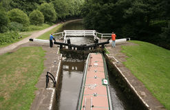Canal locks Stock Image