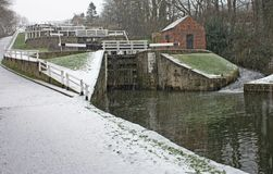 Canal Locks. Royalty Free Stock Photo