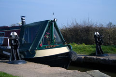 Canal longboat Stock Photography