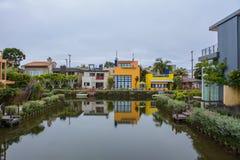Canal Los Angeles de Veneza, Califórnia, Estados Unidos imagem de stock royalty free