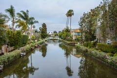 Canal Los Angeles de Veneza, Califórnia, Estados Unidos imagem de stock