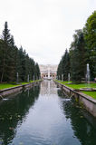 Canal in lower park of the Peterhof Royalty Free Stock Photos