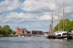 Canal in Lubeck Gemany Royalty Free Stock Images