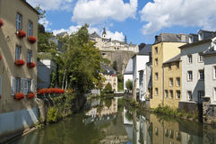 Canal in Luxembourg City Royalty Free Stock Photography
