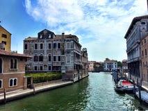 Canal magnífico de Venecia Imagen de archivo libre de regalías