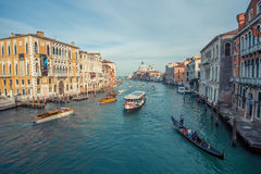 Canal magnífico de Venecia Imagen de archivo
