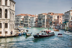 Canal magnífico en Venecia Fotografía de archivo libre de regalías