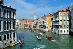 Canal magnífico en Venecia Foto de archivo
