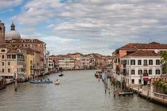 Canal magnífico en Venecia Foto de archivo libre de regalías