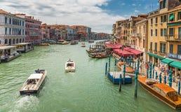 Canal magnífico en Venecia Italia fotografía de archivo