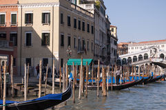 Canal magnífico Venecia Italia Foto de archivo libre de regalías