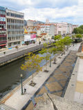 Canal and main avenue in Aveiro, Portugal Stock Photo
