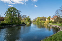 Canal in Malmo Royalty Free Stock Images