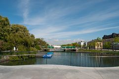 Canal in Malmo Sweden Royalty Free Stock Images