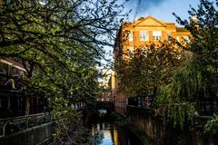 Canal Manchester de Rochdale Photographie stock