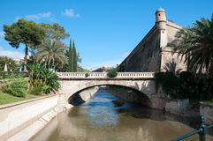 Canal and medieval building Royalty Free Stock Images