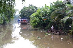 Canal in Mekong delta region. Cai Be. Vietnam Royalty Free Stock Image