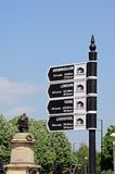 Canal mileage signpost, Stratford-upon-Avon. Stock Image