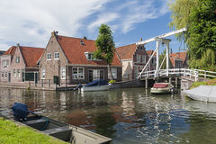 Canal in Monnickendam Netherlands Stock Photos
