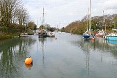 Canal Moorings Stock Photography