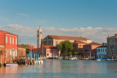 Canal in Murano Stock Image