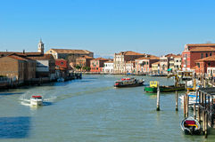 Canal of Murano islands - Venice Italy Stock Photo