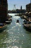 Canal of Murano islands - Venice Italy Stock Photo