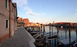 Canal in Murano Stock Photo
