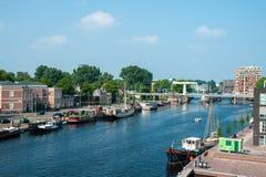 Canal néerlandais Haarlem Photo libre de droits