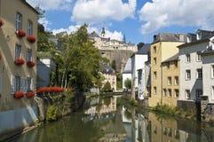 Canal na cidade de Luxembourg Fotografia de Stock Royalty Free