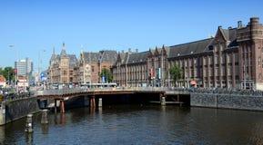 Estação de caminhos-de-ferro central - Amsterdão, os Países Baixos Imagem de Stock Royalty Free