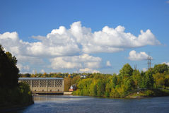 Canal named after Moscow, Russia. Royalty Free Stock Images
