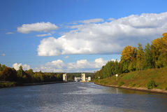 Canal named after Moscow, Russia. Stock Images