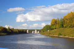 Canal named after Moscow, Russia. Royalty Free Stock Photo