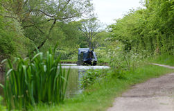 Narrow Boat Moored on Tow Path royalty free stock image