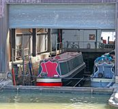 Canal Narrow Boats. Royalty Free Stock Photo