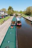 Canal Narrowboats imagem de stock royalty free