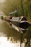 Canal Narrowboats Stock Photo