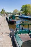 Canal Narrowboats Royalty Free Stock Photos