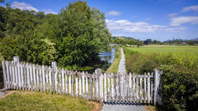 Canal Nature Reserve. Entrance to a nature reserve on the Shropshire Union Canal. Near Welshpool, Powys, Wales, UK royalty free stock photos