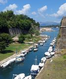 Canal near Kerkyra. Canal between fortress and Kerkyra royalty free stock photography