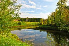 Canal in the Netherlands Stock Photo