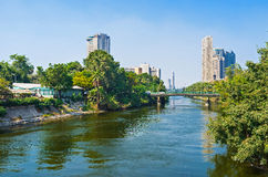 The canal of Nile Stock Images