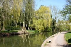 Canal no mercado Harborough, Reino Unido Fotografia de Stock Royalty Free