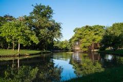 Canal no parque de Suan Luang Rama 9 Fotos de Stock Royalty Free