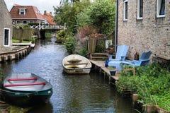 Canal nos Países Baixos Foto de Stock Royalty Free