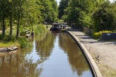 Canal novo de Llangollen do fechamento da parte superior do marton Imagem de Stock